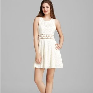 Free People White Daisy Cutout Dress size 6